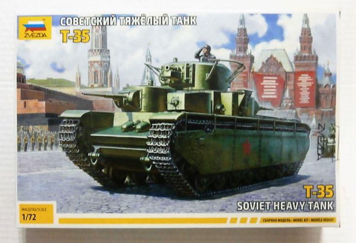 ZVEZDA 1/72 5061 SOVIET HEAVY TANK T-35
