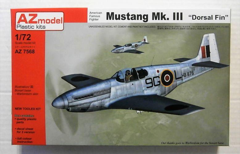 AZ MODEL 1/72 7568 MUSTANG Mk.III - DORSAL FIN