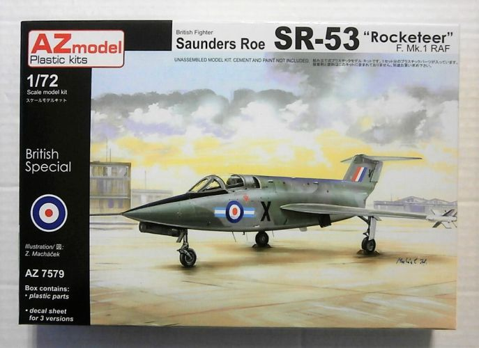 AZ MODEL 1/72 7579 SAUNDERS ROE SR-53 ROCKETEER F.Mk.1 RAF