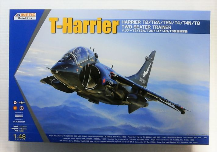 KINETIC 1/48 48040 T-HARRIER - HARRIER T2/T2A/T2N/T4/T4N/T8 TWO SEATER TRAINER