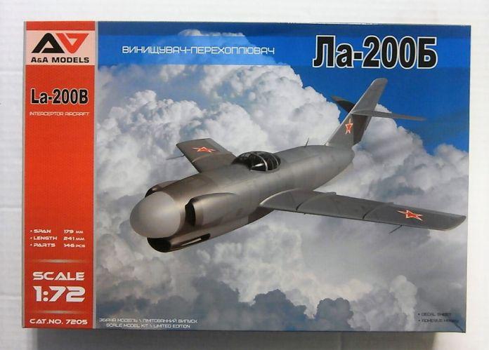 A   A MODELS 1/72 7205 La-200B INTERCEPTOR AIRCRAFT