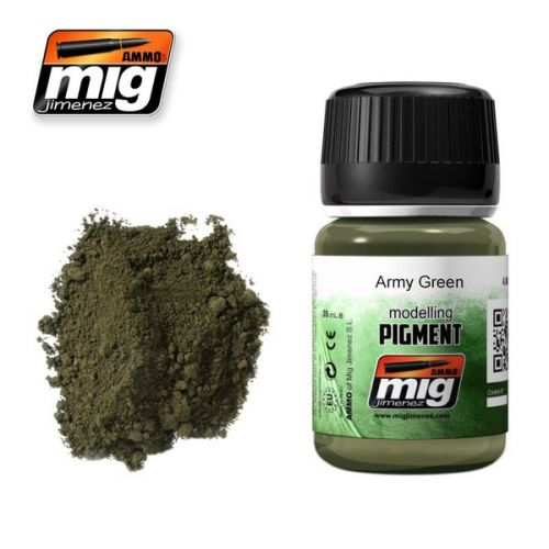 AMMO BY MIG JIMENEZ  3019 ARMY GREEN MODELLING PIGMENT 35ML