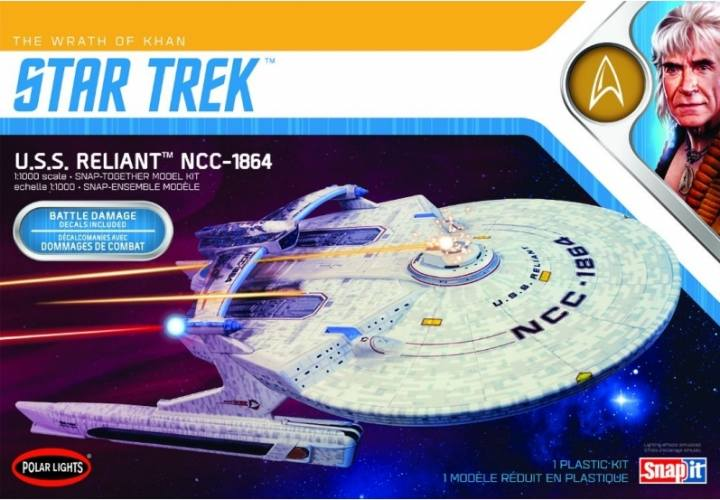 POLAR LIGHTS 1/1000 975 STAR TREK U.S.S. RELIANT NCC-1864
