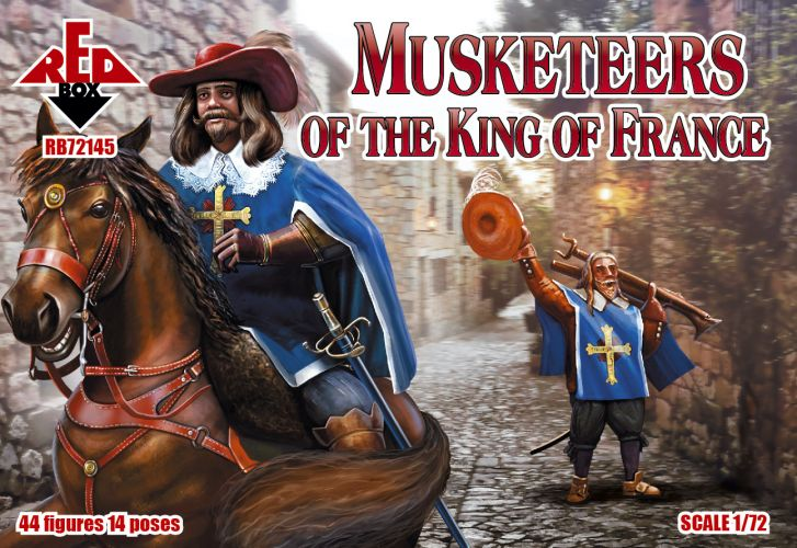 RED BOX 1/72 72145 MUSKETEERS OF THE KING OF FRANCE