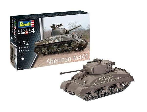 REVELL 1/72 03290 SHERMAN M4A1