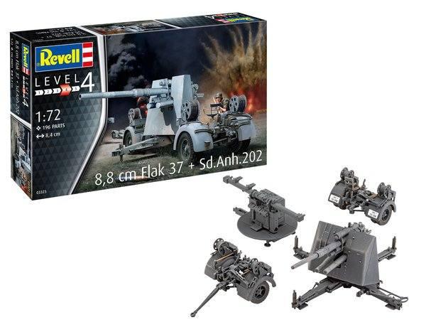 REVELL 1/72 03325 8.8CM FLAK 37   SD.ANH 202