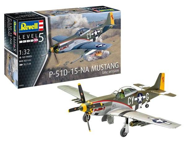 REVELL 1/32 03838 P-51D MUSTANG  LATE VERSION