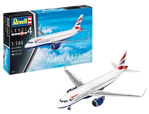 REVELL 1/144 03840 AIBUS A320 NEO BRITISH AIRWAYS