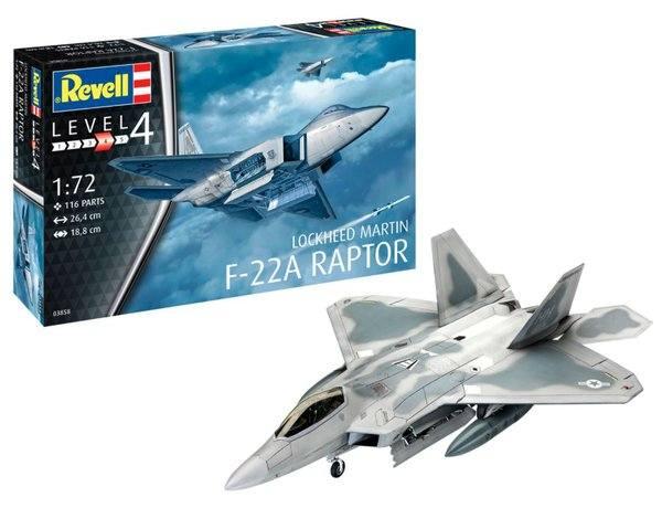 REVELL 1/72 03858 LOCKHEED MARTIN F-22A RAPTOR