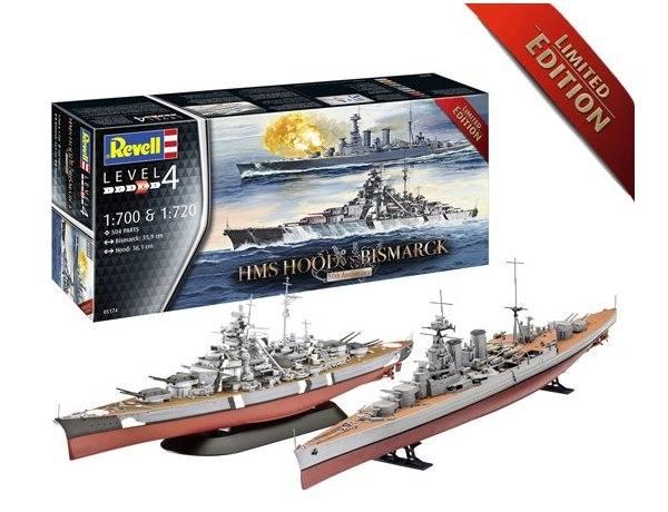 REVELL 1/720   1/700 05174 HMS HOOD Vs BISMARK 80TH ANNIVERSARY