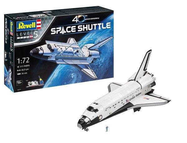 REVELL 1/72 05673 SPACE SHUTTLE ATLANTIS 40TH ANNIVERSARY GIFT SET