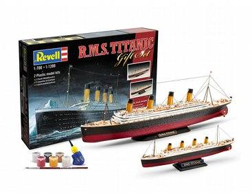 REVELL 1/700   1/1200 05727 RMS TITANIC GIFT SET