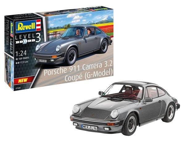 REVELL 1/24 07688 PORSCHE 911 CARRERA 3.2 COUPE