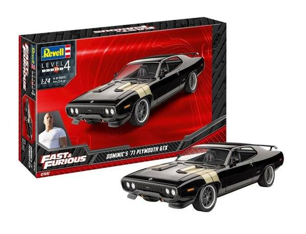 REVELL 1/25 07692 FAST   FURIOUS DOMINIC S 1971 PLYMOUTH GTX