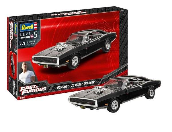 REVELL 1/25 07693 FAST   FURIOUS DOMINIC S 1970 DODGE CHARGER