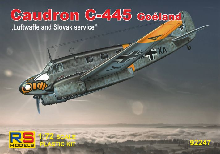 RS MODELS 1/72 92247 CAUDRON C-445 GOELAND LUFTWAFFE AND SLOVAK SERVICE