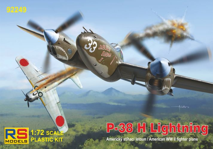 RS MODELS 1/72 92249 P-38 H LIGHTNING