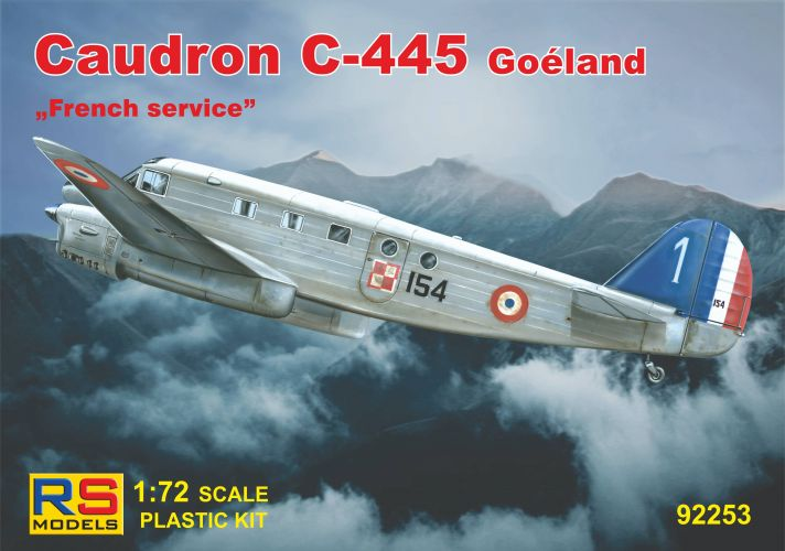 RS MODELS 1/72 92253 CAUDRON C-445 GOELAND FRENCH SERVICE