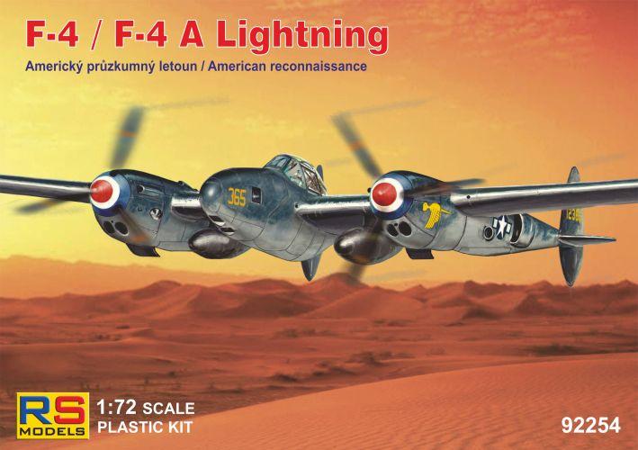 RS MODELS 1/72 92254 F-4 / F-4 A LIGHTNING