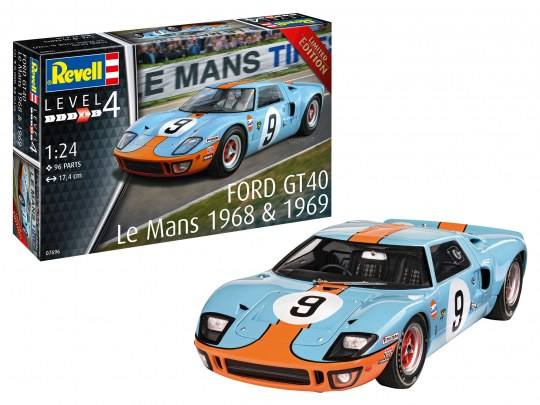 REVELL 1/24 07696 FORD GT40 LE MANS 1968 AND 1969