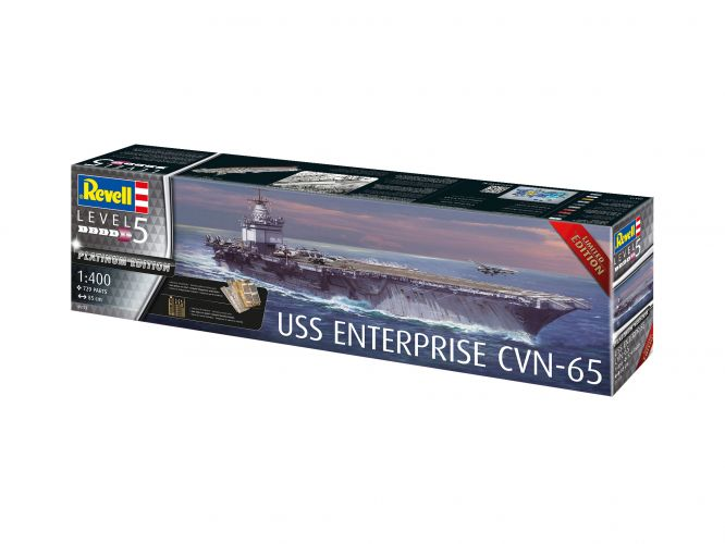 REVELL 1/400 05173 USS ENTERPRISE CVN-65 PLATINUM EDITION  UK SALE ONLY