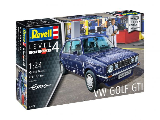 REVELL 1/24 07673 VW GOLF BUILDERS CHOICE