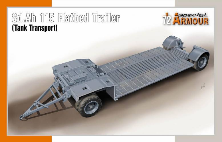 SPECIAL ARMOUR 1/72 72022 AD.AH 115 FLATBED TRAILER  TANK TRANSPORT