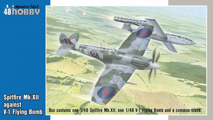 SPECIAL HOBBY 1/48 48192 SPITFIRE MK.XII AGAINST V-1 FLYING BOMB