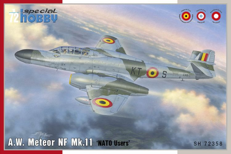 SPECIAL HOBBY 1/72 72358 A.W. METEOR NF MK.11 NATO USERS