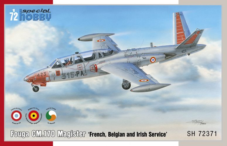 SPECIAL HOBBY 1/72 72371 FOUGA CM.170 MAGISTER FRENCH BULGARIAN AND IRISH SERVICE