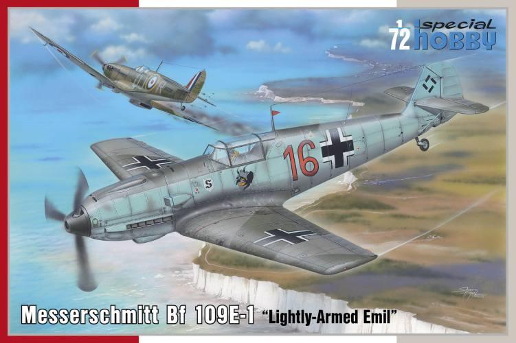 SPECIAL HOBBY 1/72 72454 MESSERSCHMITT BF 109E-1 LIGHTLY-ARMED EMIL