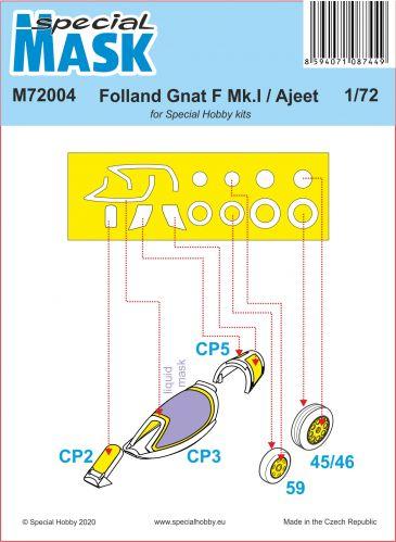 SPECIAL MASK 1/72 72004 FOLLAND GNAT F.1/FR.1   AJEET