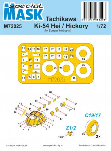 SPECIAL HOBBY 1/72 72025 TACHIKAWA KI-54 HEI/ HICKORY MASK