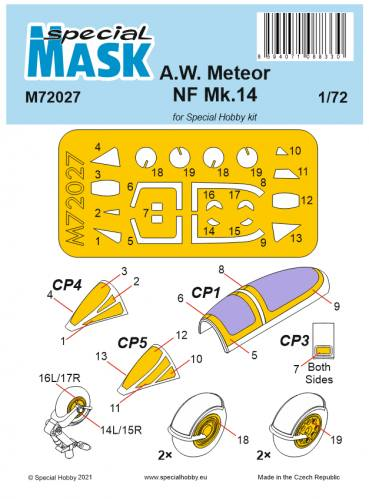 SPECIAL HOBBY 1/72 72027 A.W.METEOR NF MK.14 MASK