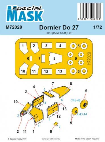 SPECIAL HOBBY 1/72 72028 DORNIER DO 27 MASK