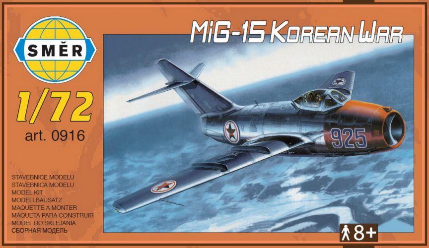 SMER 1/72 0916 MIKOYAN MIG-15 KOREAN WAR