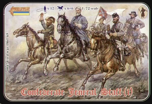 STRELETS 1/72 047 CONFEDERATE GENERAL STAFF  1