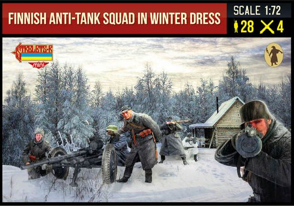 STRELETS 1/72 246 FINNISH ANTI-TANK SQUAD IN WINTER DRESS