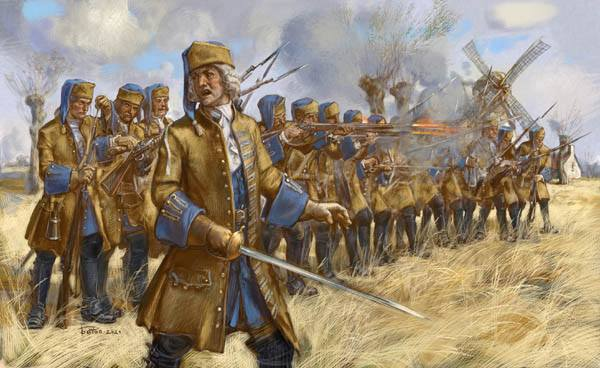 STRELETS  254 DISMOUNTED FRENCH DRAGOONS IN SKIRMISH 1701-1714