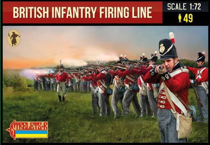 STRELETS 1/72 278 BRITISH INFANTRY FIRING LINE