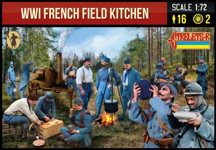STRELETS 1/72 292 WWI FRENCH FIELD KITCHEN