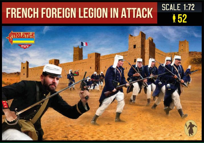 STRELETS 1/72 M147 FRENCH FOREIGN LEGION IN ATTACK