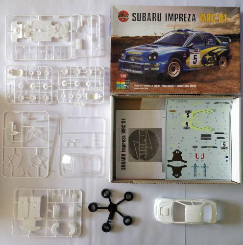 KINGKIT MODEL SCRAPYARD 1/24 AIRFIX - 07406 SUBARU IMPREZA WRC 01 - CLEAR PARTS BROKEN