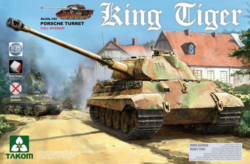 TAKOM 1/35 2074S KING TIGER Sd.Kfz.182 PORSCHE TURRET FULL INTERIOR