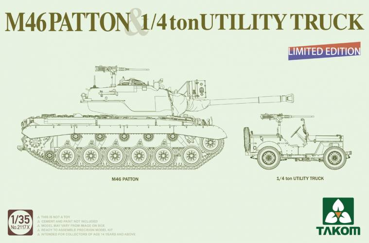 TAKOM 1/35 2117X M46 PATTON 1/4 TON UTILITY TRUCK LIMITED EDITION