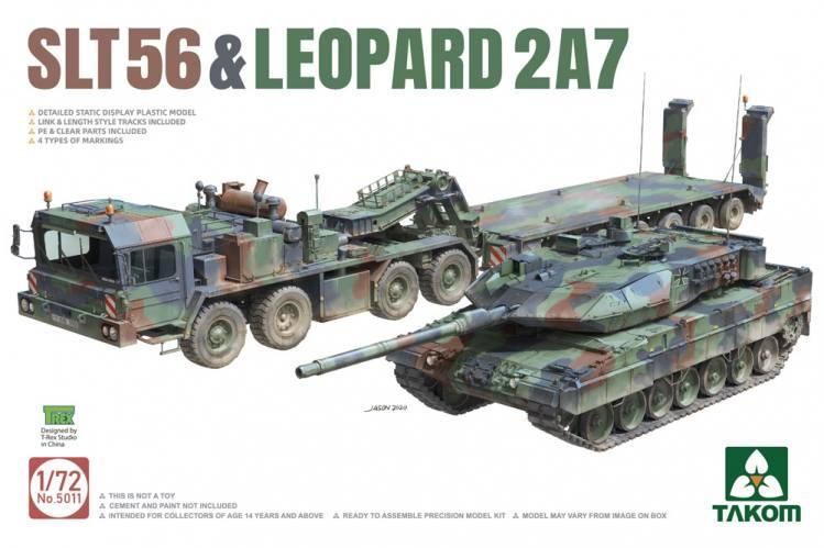 TAKOM 1/72 5011 FAUN SLT-56 FRANZISKA   LEOPARD 2A7