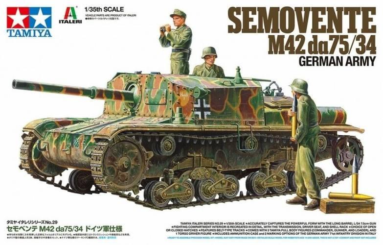 TAMIYA 1/35 37029 SEMOVENTE M42 DA75-34 GERMAN ARMY