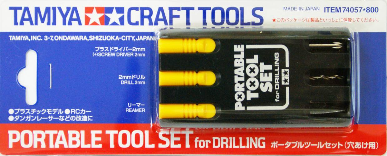 TAMIYA  74057 PORTABLE TOOL SET FOR DRILLING  UK SALE ONLY