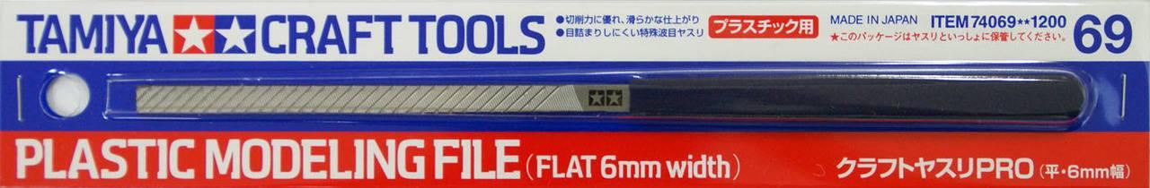 TAMIYA  74069 PLASTIC MODELLING FILE FLAT 6MM WIDTH