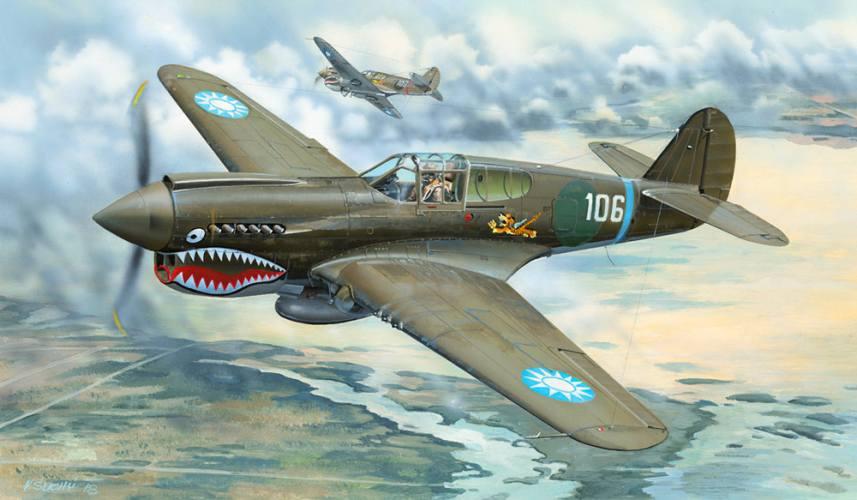 TRUMPETER 1/32 02269 P-40E WAR HAWK